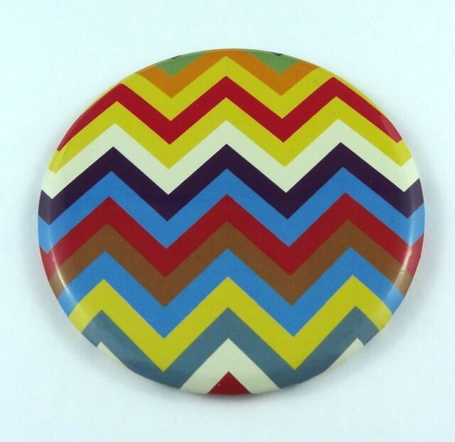 Cosmetic Mirror Makeup Compact Lightweight Highly Portable Zigzag Pattern