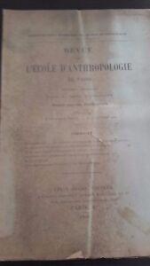 Rivista SCUOLA Antropologia 1904 14 Eme Anno N°2 F.Alcan ABE