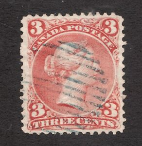 25-Canada-1868-3-Cent-Used-VF-superfleas