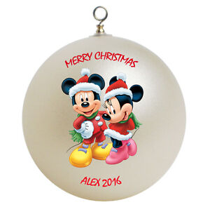 image is loading personalized mickey mouse amp minnie mouse christmas ornament - Mickey Mouse Christmas Decorations