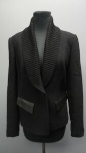 Button Lafayette Sz Front Casual Black Blazer Solid 148 Ff9885 Long Sleeves 4 4qUR4rxI