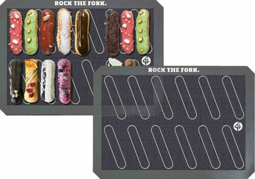 Rock the Fork Baking Mats Non-Stick Silicone 2-Pack Eclair Template