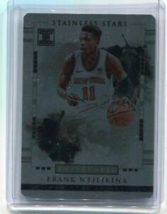 2017-18 IMPECCABLE FRANK NTILIKINA STAINLESS STARS ROOKIE /99 KNICKS