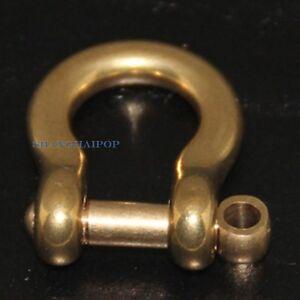 2-x-laiton-d-manille-fermoir-anneau-pour-cuir-artisanat-porte-cles-boucle-de-ceinture-fastener-clip