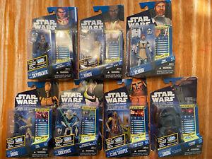 2010-Hasbro-Star-Wars-Clone-Wars-Galactic-Battle-Game-Figure-Lot-On-Card