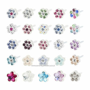 Hypoallergenic-Blomdahl-medical-plastic-daisy-flower-stud-earrings-nickel-free