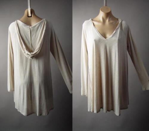 Oatmeal Hoodie Hooded Oversize Modal Cotton Lagenlook Shirt 221 mv Tunic S M L