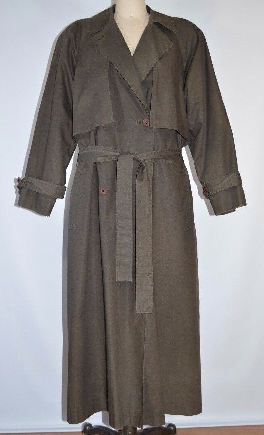 Bill Blass Trench Coat Removable Wool Lining Wome… - image 1