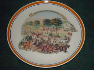 Image is loading Currier-and-Ives-Decorative-Dinner-Plates-034-Fast- & Currier and Ives Decorative Dinner Plates \