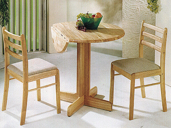 CONCISE DESIGNED CASUAL WOOD STARTER CHAIR IN NATURE FINISH SET OF 2-ASDI