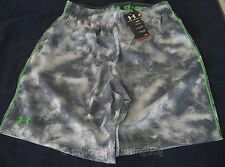 NWT Under Armour Mens Hommes Hombres Shorts Sz L Apple Green Gray