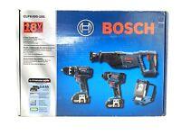 Bosch 18V 2 Ah Cordless Lithium-Ion 4-Tool Combo Kit CLPK495-181 new