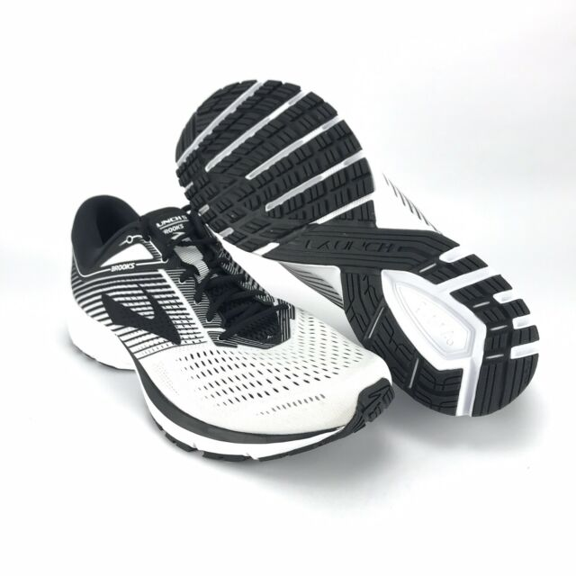 4687155ee54 Brooks Men s Launch 5 White Black Running Shoes Size 13 for sale ...