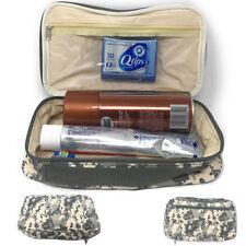 Camo Army Travel Kit Organizer Accessories Bathroom Cosmetics Toiletry Pouch Bag