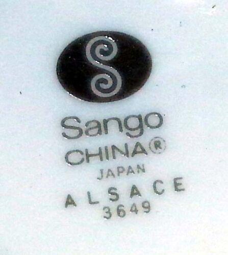 "4 1//4/"" Dia. Sango Porcelain China Japan ALSACE #3649 Tea // Coffee Cup"