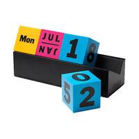 Moma Cubes Perpetual Calendar Cmyk Desk Home Office Organizer Decor Art Gift