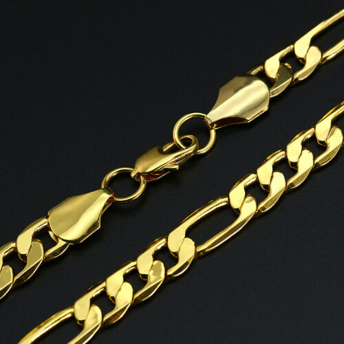 """18K Or Plaqué Chaîne Serpent Figaro Acier Inoxydable 316 L Collier Bijoux 16-30/"""""""
