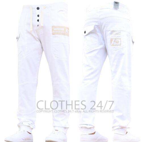 Pantalón DEPORTIVO para Hombre de Diseñador Chinos Stretch Con Puño Pantalones Vaqueros Slim Fit todos los tamaños de la cintura