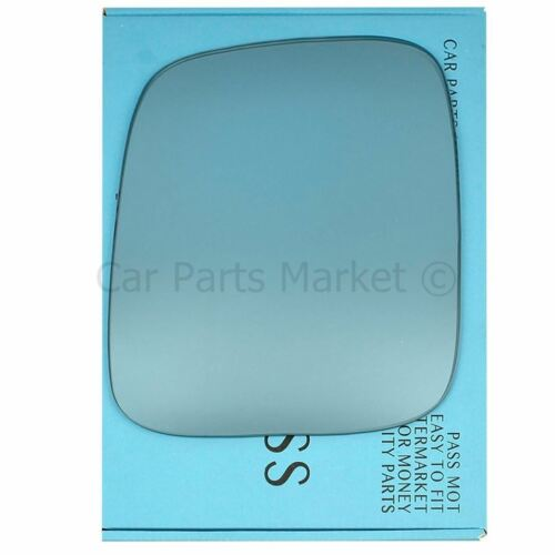 Azul Pasajero Izquierdo Ala Espejo Cristal Para VW Caddy 2004-15 Placa