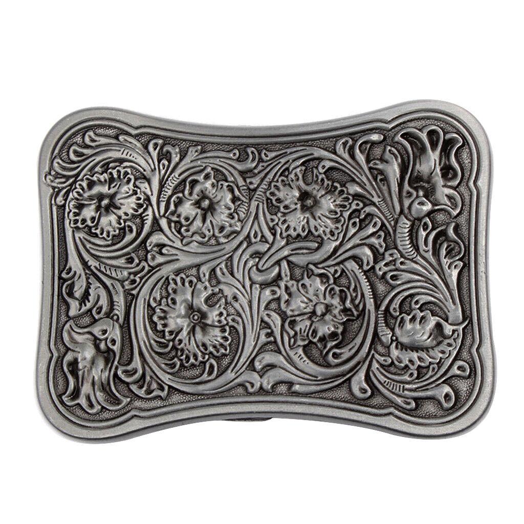 1 Stück Western Gürtelschnalle Cowboy Cowgirl Blumen Muster für Gürtel