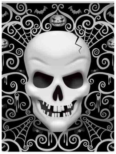 Fright Night Plástico Fiesta Mantel Mantel Halloween Calaveras esqueletos