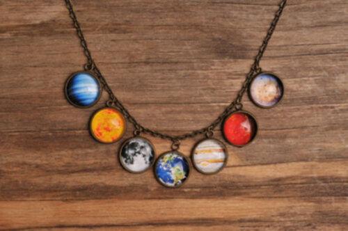 Galaxy Collier Bijoux Système Solaire Collier Planet Collier univers Collier