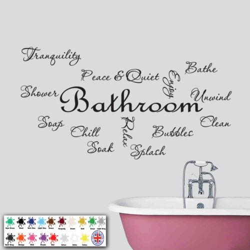 Decals Stickers Vinyl Sticker Bathroom Wall Art Text Quote Montage