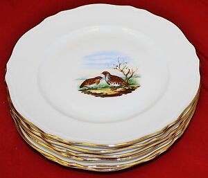 Image is loading Richard-Ginori-Game-Bird-Dinner-Plates-Set-of- & Richard Ginori Game Bird Dinner Plates - Set of 6 - MINT | eBay