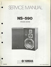Original Factory Yamaha NS-590 Speakers Parts List With Schematic