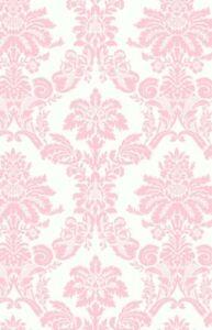 Marvelous Image Is Loading Wallpaper Designer Light Pink Damask On Off White Amazing Design