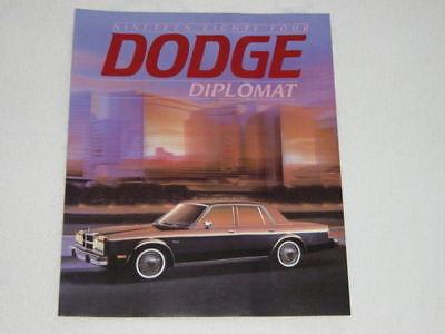 1979 Dodge Diplomat  Automobile Brochure Car