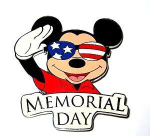 Silver Ap Le 100 Disney Auction Pin Mickey Salute Memorial Day Us Flag Patriotic Ebay