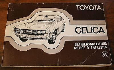 Toyota Celica Betriebsanleitung Bedienungsanleitung 1976