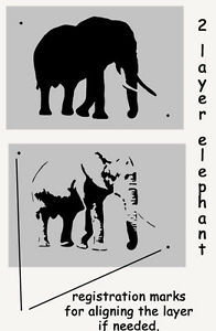 Image Is Loading Elephant Stencil Home Wall Decor Art Craft