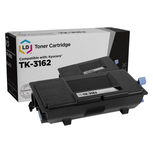 Black Toner 3-Pack for ECOSYS P3045dn LD Compatible Kyocera TK-3162 1T02T90US0