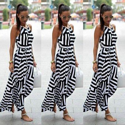 Damen Sommerkleid Asymmetrischen Strandkleid Cocktailkleid Minikleid Gr.32-40