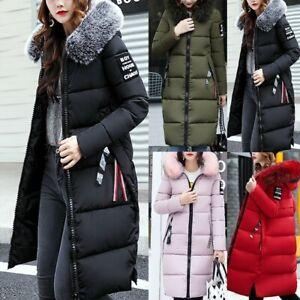 Womens-Big-Fur-Collar-Hooded-Coat-Winter-Long-Parka-Warm-Down-Padded-Jacket-LQ