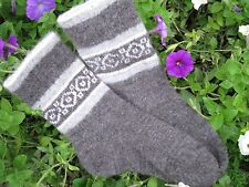 MEN's homemade SOCKS 100% NATURAL SHEEP WOOL yarn FLEECE Russian craft angora