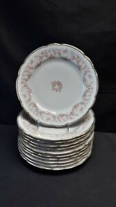 Schumann-Bavaria-Original-Bridal-Rose-Set-of-11-Dinner-Plates