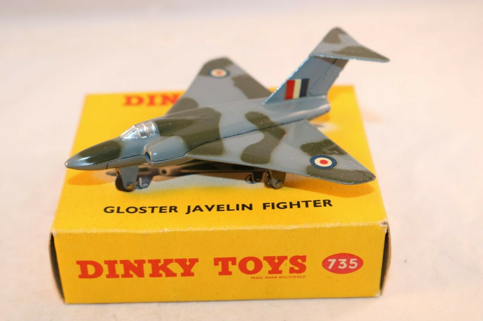 Dinky Juguetes 735 Gloster Javalin perfect mint in a perfect mint box súperb