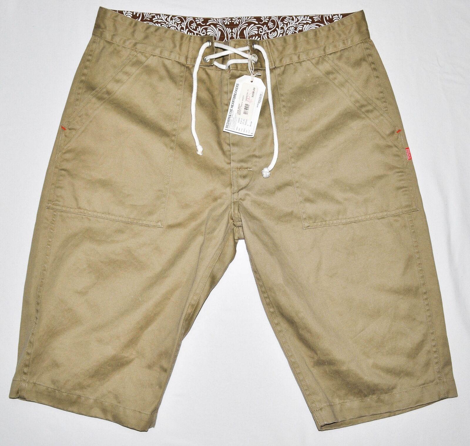 Men's UNDEFEATED x BEDWIN Khaki Shorts size 5 36