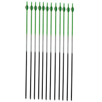 12 Pcs 7.630 Green Compund Carbon Arrows 2'' Fletch Bohning Nocks Arrow Tube