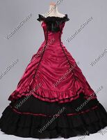 Victorian Southern Belle Princess Dress Gown Theater Westworld Clothing 135