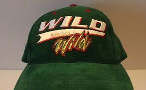 Minnesota Wild Hockey Hat Deluxe Snapback NHL Brand EUC Green Baseball Cap