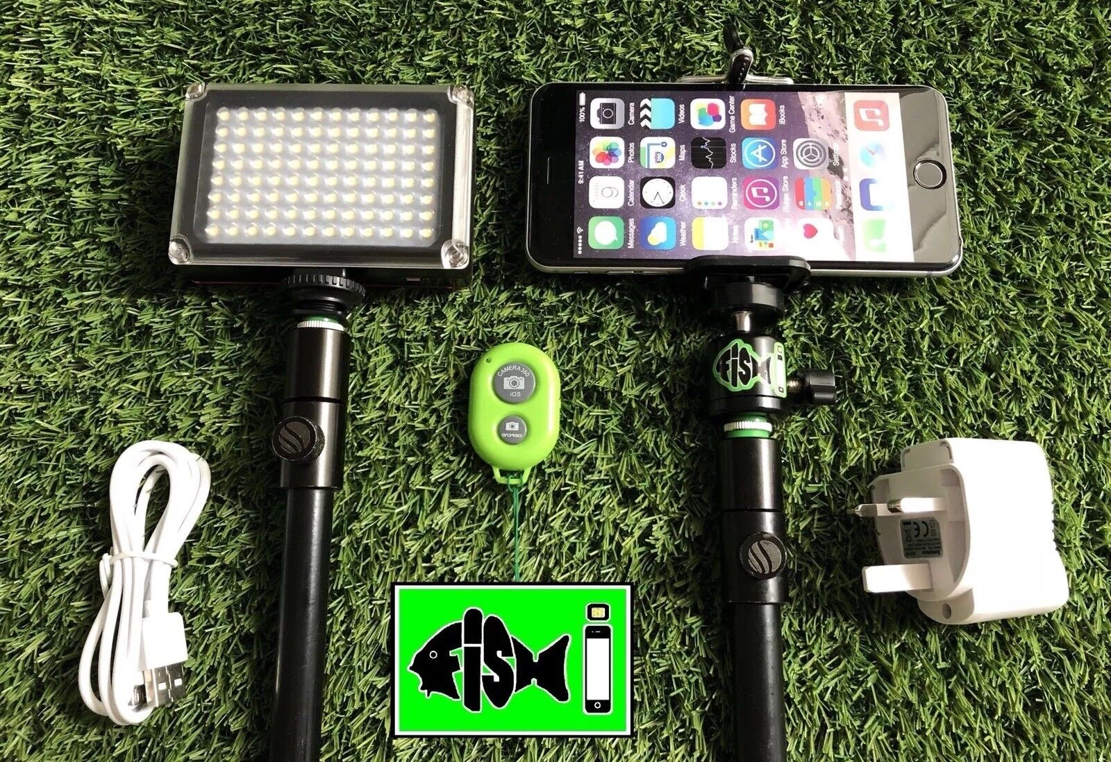 Self Take Kit For Fishing Inc blueetooth Remote & Rechargeable 96 Led Light