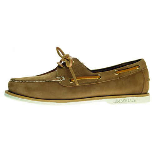 Lumberjack Navigator traditionelle Herren Seglerschuhe Slipper Leder Schuhe NEU