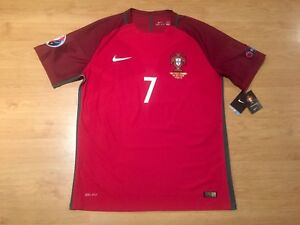PORTUGAL 2016 EURO FINAL RONALDO  7 NIKE PLAYER AUTHENTIC SHIRT ... cf8b079a96113