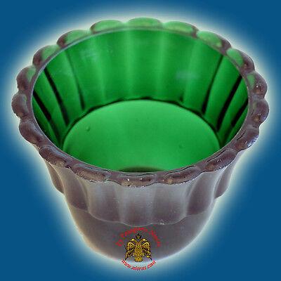 "Vigil Oil Lamp Glass Cup 6.7cm 2.6/"" Red//Blue"