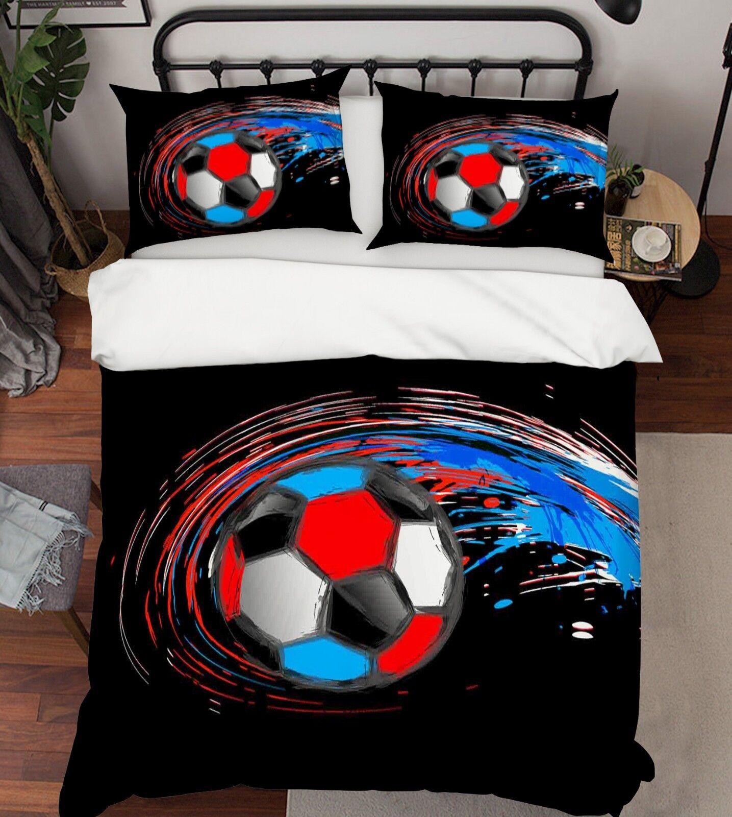 3d Calcio Club Logo 5 LETTO FEDERE steppe duvet set soffitto Single de