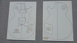 Image Is Loading Les Paul Guitar Template Laser Cut